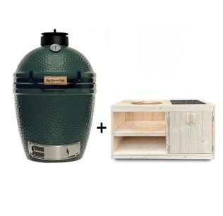 Big-Green-Egg-Medium-met-steigerhout-tafelkast