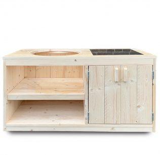 Tafel steigerhout met opbergkast