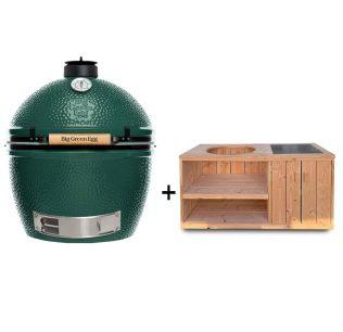 Big-Green-Egg-XL-met-douglas-tafelkast-met-opbergruimte