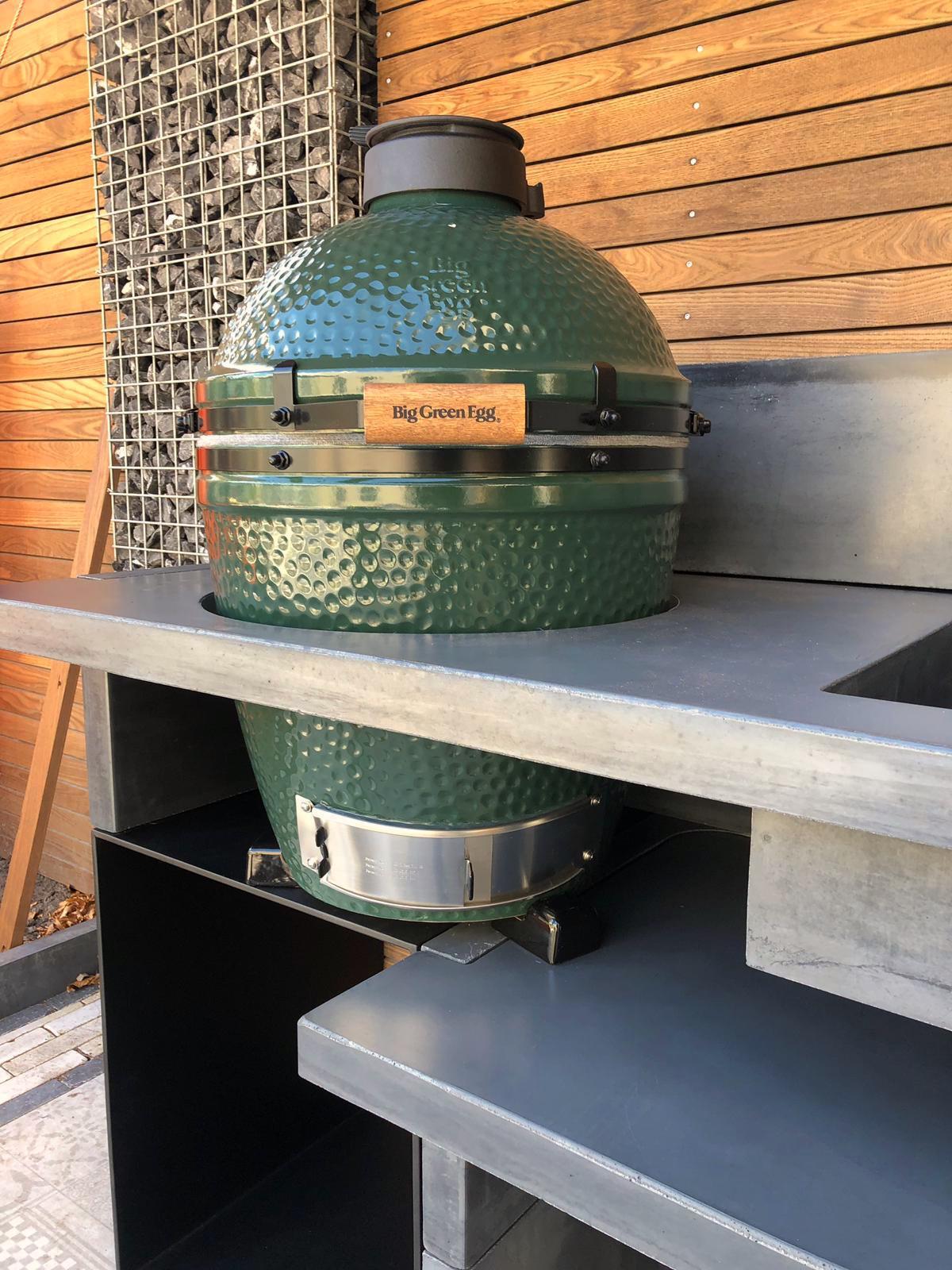 Buitenkeuken Green Egg.Betonnen Buitenkeuken Cabin 200a