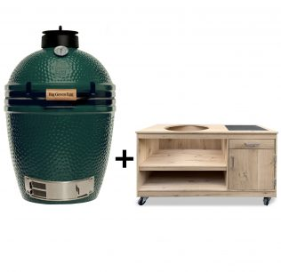 opbergkast Big Green Egg Medium eiken