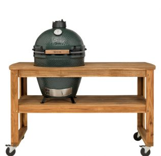 Big Green Egg large met acacia tafel