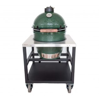 Big-Green-Egg-Large-met-RVS-werktafel-horeca