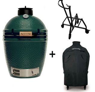 Big Green Egg Medium met geintegreerd ondestel en hoes