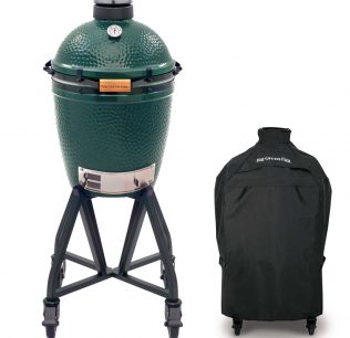 Big Green Egg medium met geintegreerd onderstel en hoes