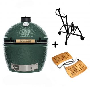 Big Green Egg Extra Large met Integrated Nest Handler en Zijplankjes