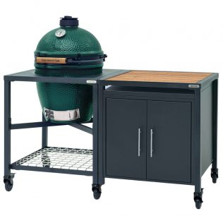 Big Green Egg Large met modulair EGG frame en Cabinet