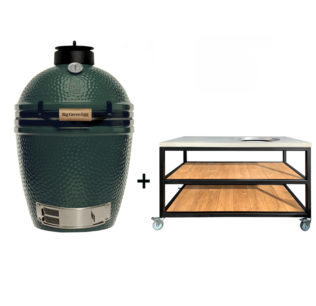 Big-Green-Egg-Medium-met-tafelkast-oak-steel-classic
