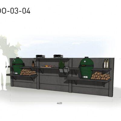 Lichtgrijs: €5.625 Antraciet: €6.270. De prijs is inclusief transport, installatie en BTW. Exclusief BBQ en accessoires.