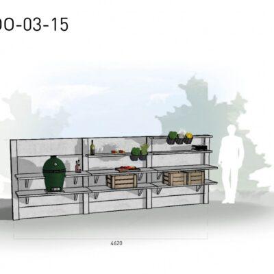 Lichtgrijs: €7.160 Antraciet: €8.035. De prijs is inclusief transport, installatie en BTW. Exclusief BBQ en accessoires.