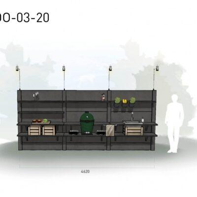 Lichtgrijs: €8.510 Antraciet: €9.475. De prijs is inclusief transport, installatie en BTW. Exclusief BBQ en accessoires.