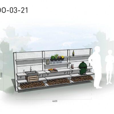 Lichtgrijs: €10.350 Antraciet: €11.590. De prijs is inclusief transport, installatie en BTW. Exclusief BBQ en accessoires.