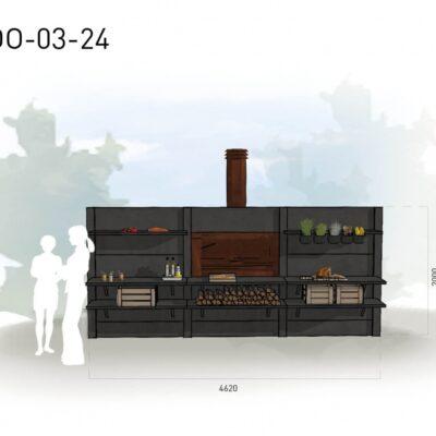Lichtgrijs: €9.045 Antraciet: €9.860. De prijs is inclusief transport, installatie en BTW. Exclusief BBQ en accessoires.