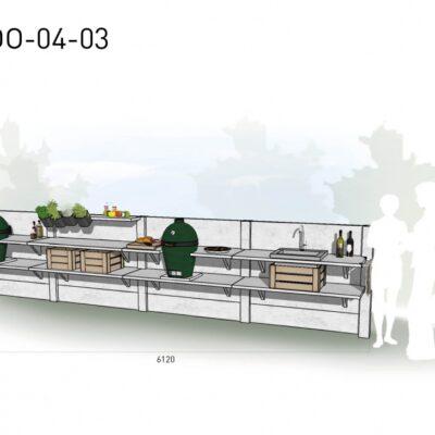 Lichtgrijs: €8.785 Antraciet: €9.730. De prijs is inclusief transport, installatie en BTW. Exclusief BBQ en accessoires.