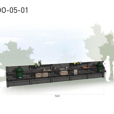 Lichtgrijs: €11.080 Antraciet: €12.305. De prijs is inclusief transport, installatie en BTW. Exclusief BBQ en accessoires.