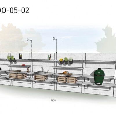 Lichtgrijs: €13.850 Antraciet: €15.490. De prijs is inclusief transport, installatie en BTW. Exclusief BBQ en accessoires.