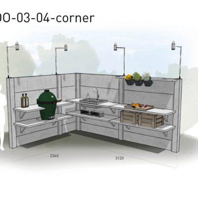Lichtgrijs: €8.330 Antraciet: €9.200. De prijs is inclusief transport, installatie en BTW. Exclusief BBQ en accessoires.