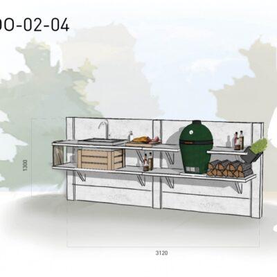 Lichtgrijs: €4.550 Antraciet: €4.990. De prijs is inclusief transport, installatie en BTW. Exclusief BBQ en accessoires.