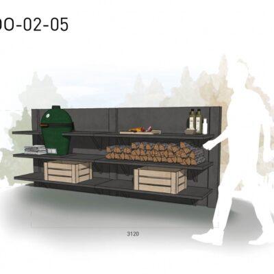 Lichtgrijs: €5.050 Antraciet: €5.675. De prijs is inclusief transport, installatie en BTW. Exclusief BBQ en accessoires.