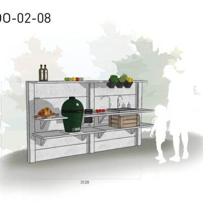 Lichtgrijs: €5.700 Antraciet: €6.285. De prijs is inclusief transport, installatie en BTW. Exclusief BBQ en accessoires.