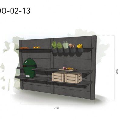 Lichtgrijs: €4.940 Antraciet: €5.535. De prijs is inclusief transport, installatie en BTW. Exclusief BBQ en accessoires.