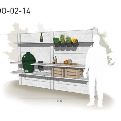 Lichtgrijs: €5.110 Antraciet: €5.720. De prijs is inclusief transport, installatie en BTW. Exclusief BBQ en accessoires.