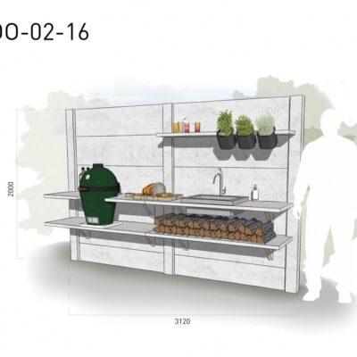 Lichtgrijs: €5.240 Antraciet: €5.785. De prijs is inclusief transport, installatie en BTW. Exclusief BBQ en accessoires.