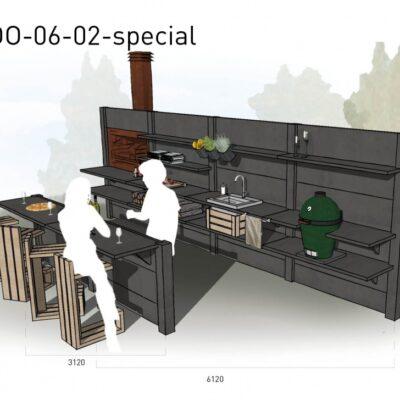 Lichtgrijs: €15.250 Antraciet: €16.690. De prijs is inclusief transport, installatie en BTW. Exclusief BBQ en accessoires.